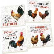 Coaster Pack Rooster & Chicken