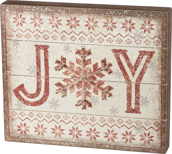 Slat String Box Sign- Joy