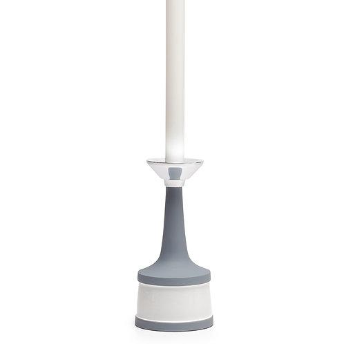 Meta Two Tone Band Enamel Aluminum Candle Holder