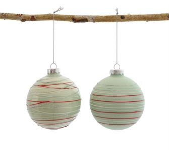 Striped Glass Ball Ornament