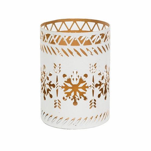 WoodWick White Snowflake Petite Candle Holder