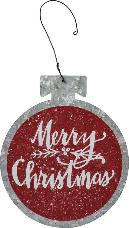 Tin Hang Up - Merry Christmas