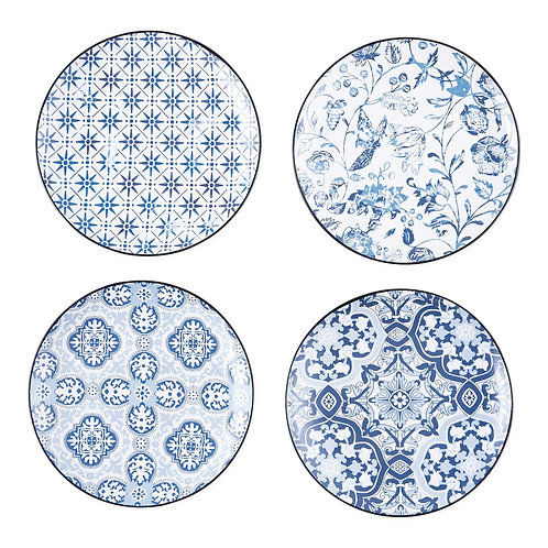 Porto Blue Tile Porcelain Appetizer Plate