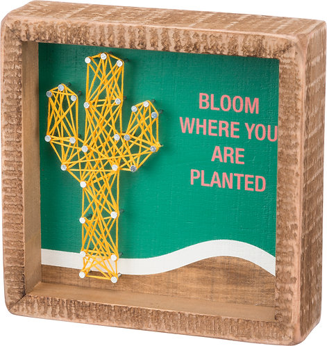 Inset String Art - Bloom Where You Are Planted