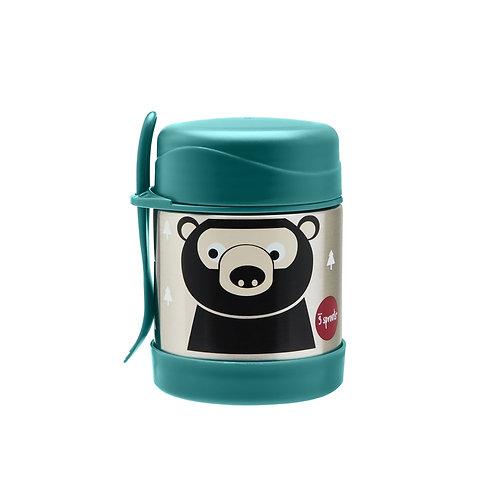 Bear stainless steel food jar