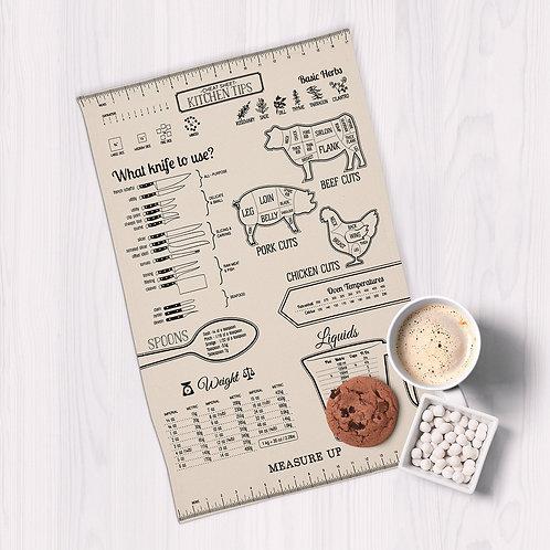 Measure Up Printed Dishtowel