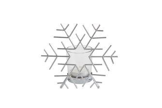 Iron Wire Snowflake w/ Glass Votive Holder
