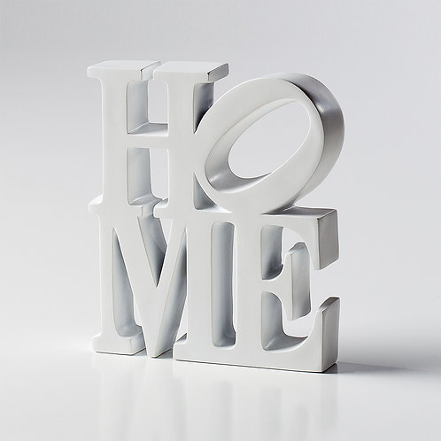 Word Art White Resin Décor - Home