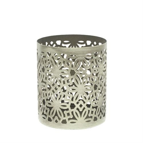 Woodwick Brushed Nickel Petite Candle Holder