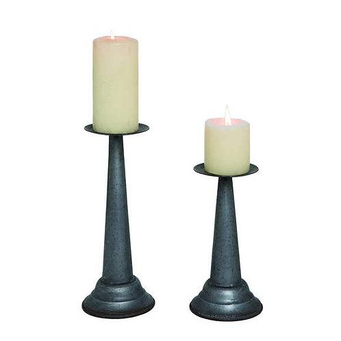 Metal Farmhouse Pillar Candle Holders