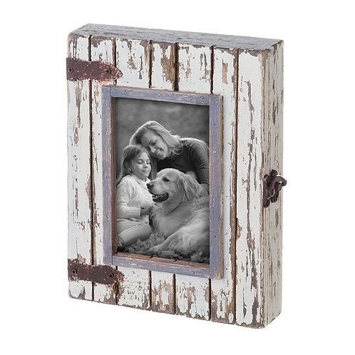 Rustic Wood Box Frame White