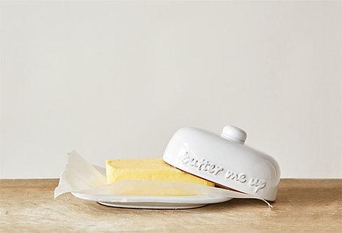 """Terra-cotta Butter Dish """"Butter Me Up"""""""