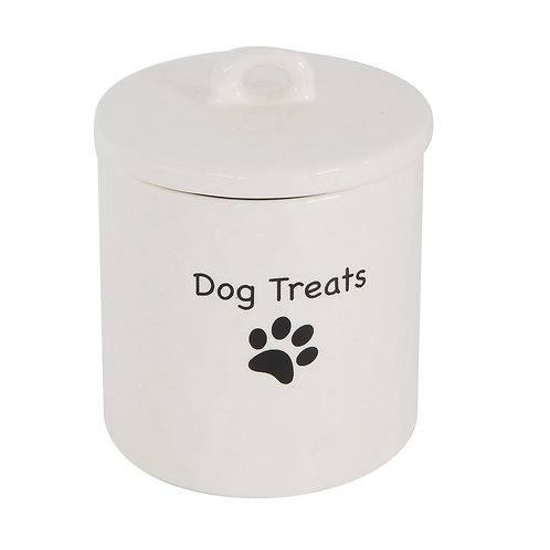 "Stoneware Canister ""Dog Treats"""