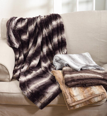 Animal Print Faux Fur Throw