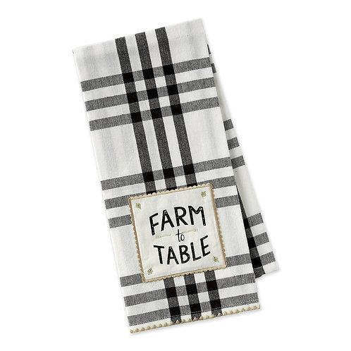 Farm To Table Embellished Dishtowel