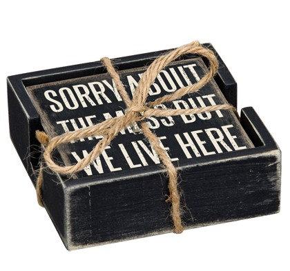 Box Sign Coasters - Home