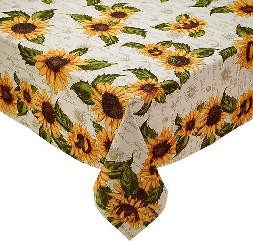 Rustic Sunflower Printed Tablecloth