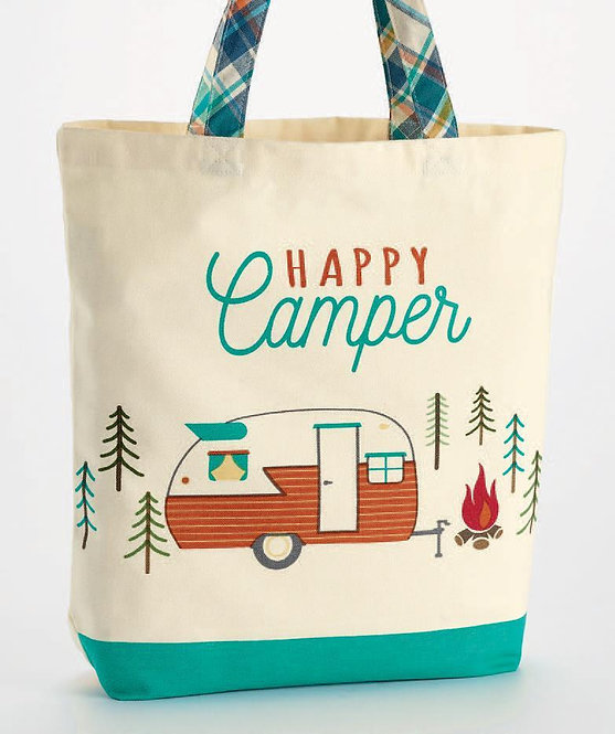 Happy Camper Print Tote
