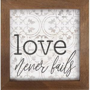 Framed Art Love Never Fails