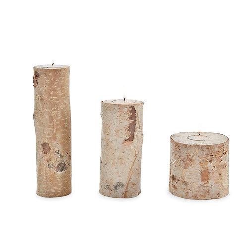 Birch Bark Tea Light Holders