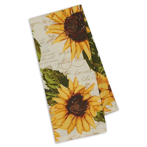 Rustic Sunflowers Printed Dishtowel