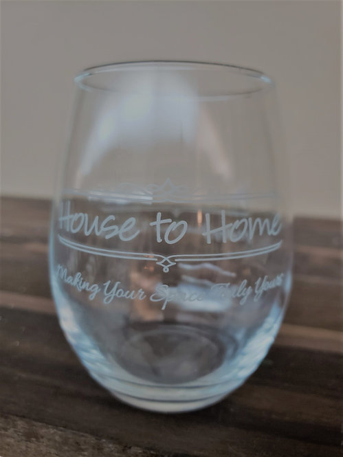House to Home Wine Glass