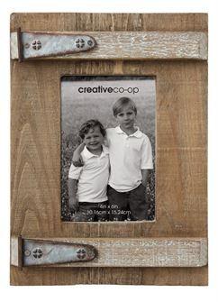 Wood & Metal Photo Frame
