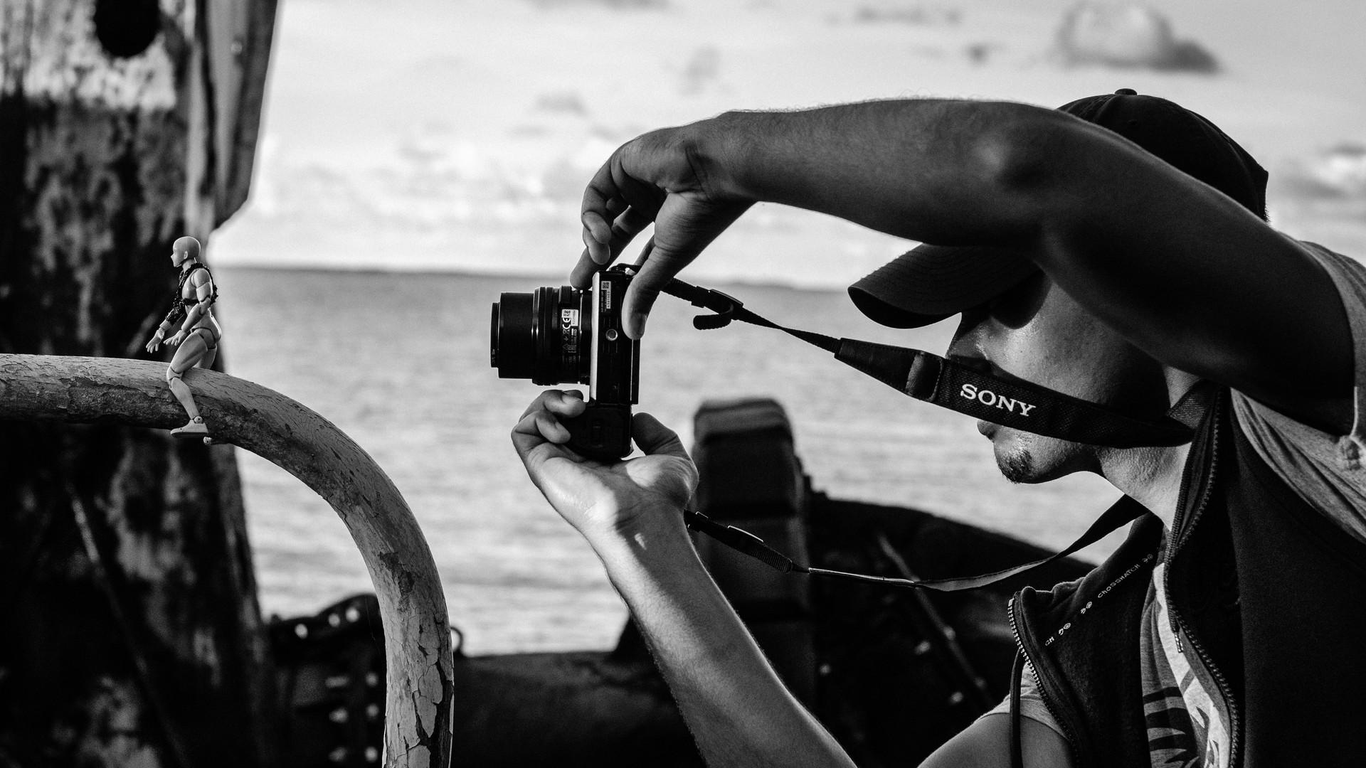 Josch Photo Guadeloupe : Portrait Noir et Blanc Travail