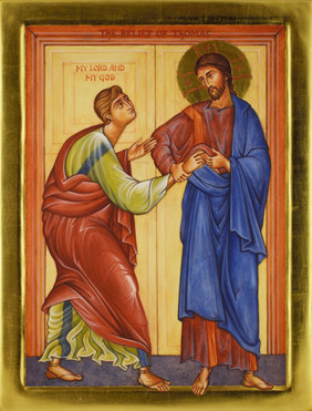 Icon of Christ with Saint Thomas - 'My Lord and My God'