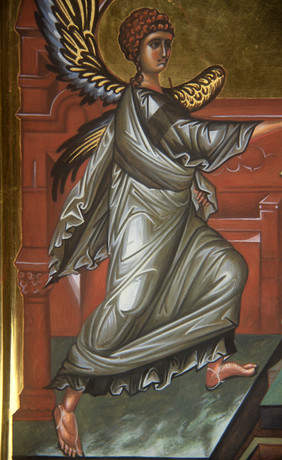 Icon of the Annunciation (detail)