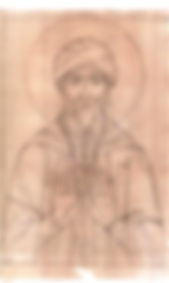 Drawing of Saint Isaac the Syrian