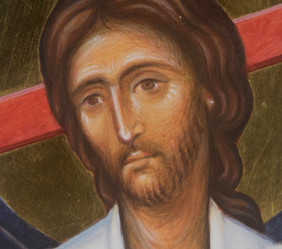 Icon of Christ with Saint Dunstan (detail)