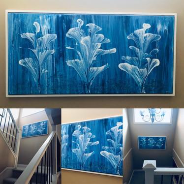 framed vignettes blue healing flowers.jp