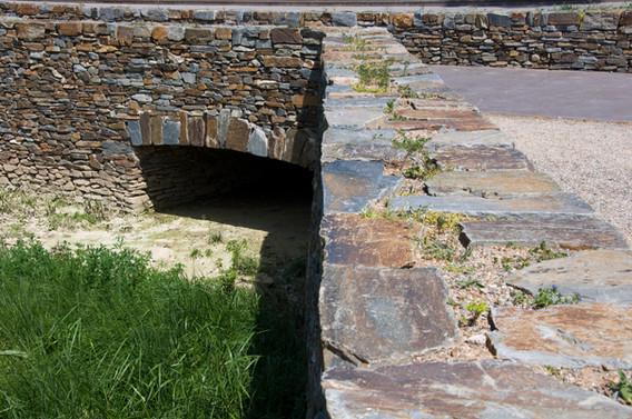 Drainage des Eaux en Pierre Sèche Site de Paulilles