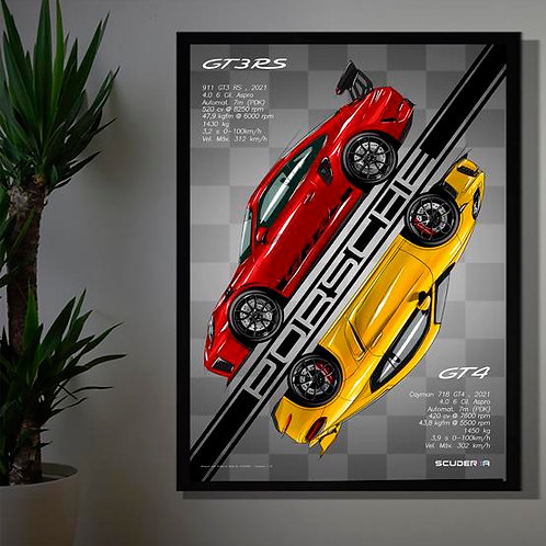 PORSCHE 911 GT3 RS + CAYMAN 718 GT4