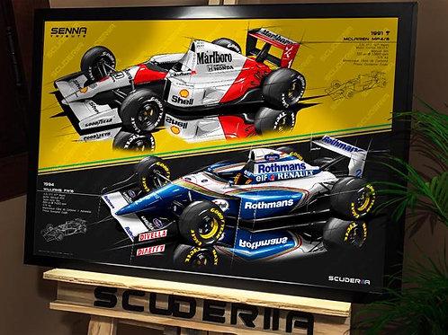 McLaren MP4/6 + Williams FW16 - SENNA - HORIZONTAL