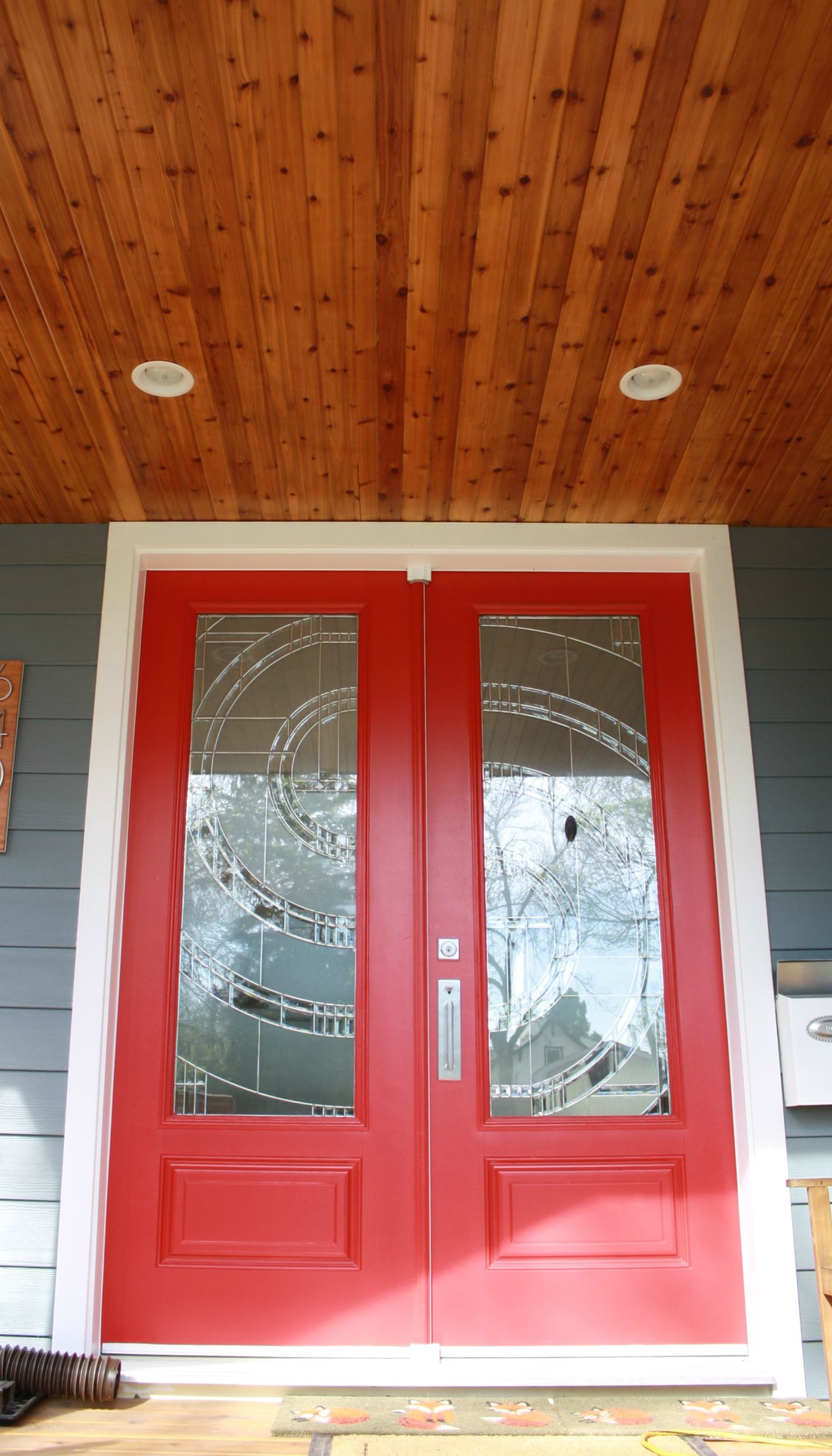 Front Doors with Custom Glass