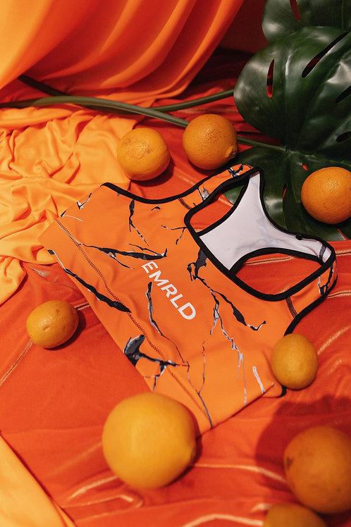 Orange Citrine  Bra Top