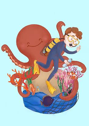 Save the ocean illustration_Amber Seyche