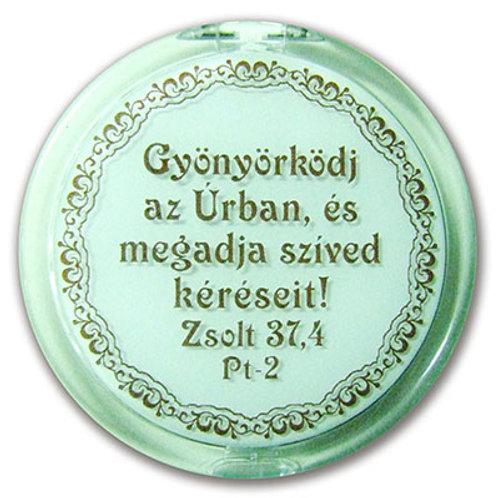 Gyönyörködj az Úrban - igés, pipere tükör - táskában elfér (FEHÉR)