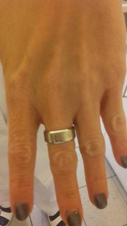 JESUS acél gyűrű,ezüst színben (fix