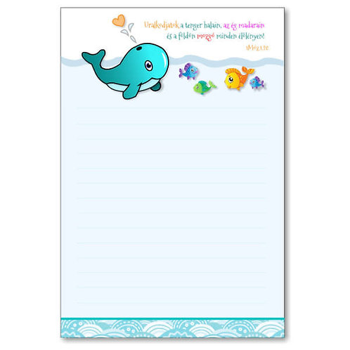 Igés jegyzettömb (sima): Uralkodjatok a tenger halain, az ég madarain és ...