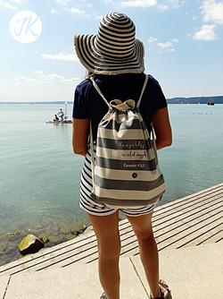 Ha vízen kelsz át, én veled..,feliratos, keresztény vászon tengerész hátizsák