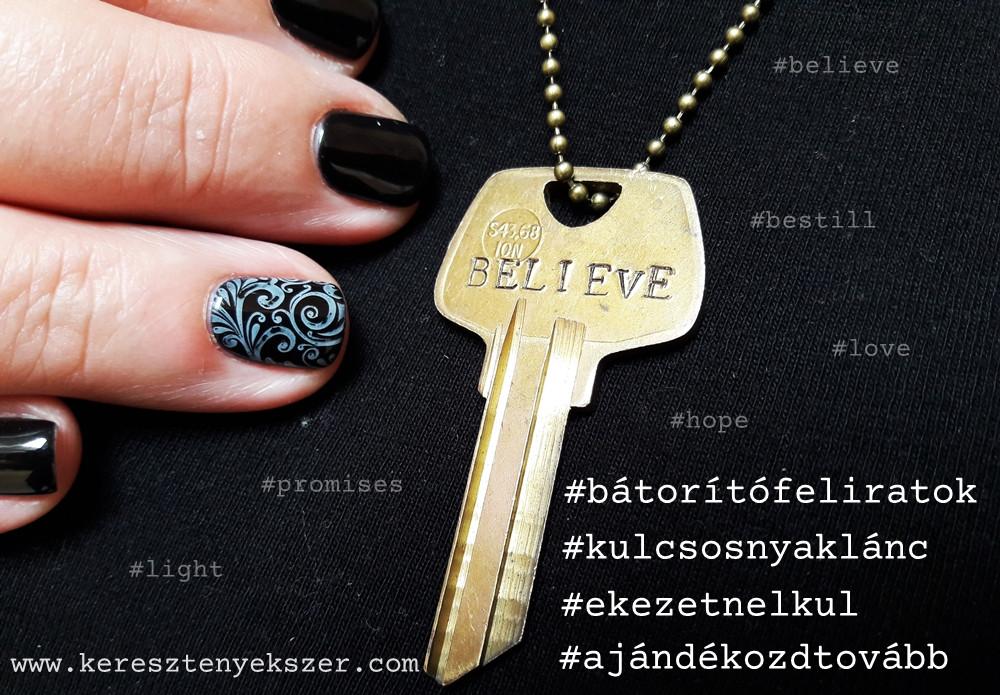 Kulcsos - feliratos nyakláncok