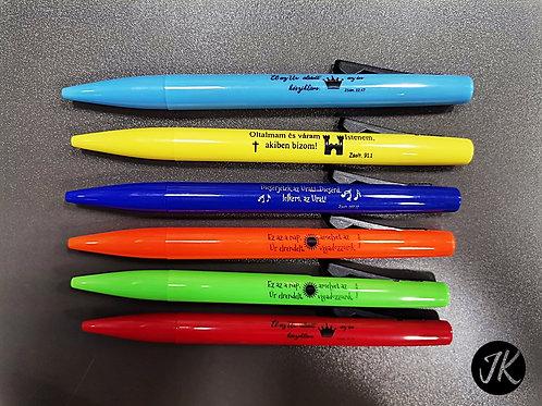 Igés, golyós toll (kék tintával) - különböző színek (véletlenszerűen küldjük)