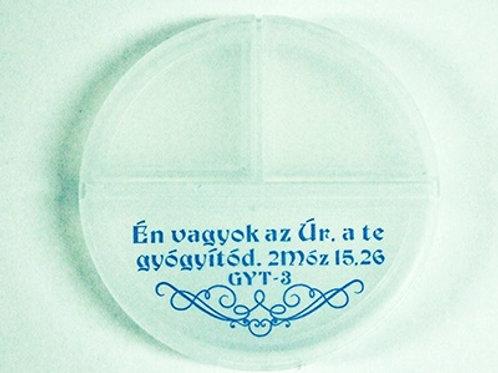 Én vagyok az Úr, a te gyógyítód - igés, gyógyszertartó doboz