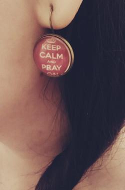 Edina - Keep Calm fülbevaló