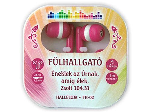 Énekelek az Úrnak, amíg élek - igés fülhallgató,pink