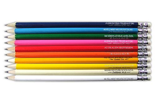 Igés, grafit ceruza, színes borítással ( vegyes színekben )