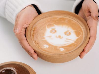 雕花拿铁艺术:可爱猫咪